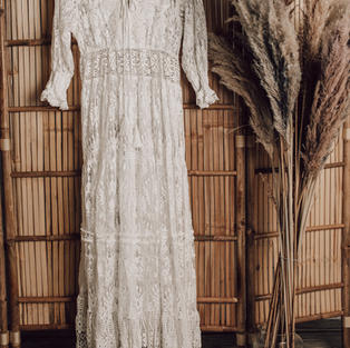 Antica sartoria Kanten jurk (5)