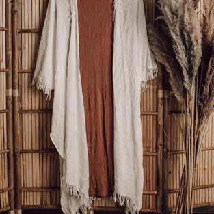 Roestbruine jurk met boho vest (13)