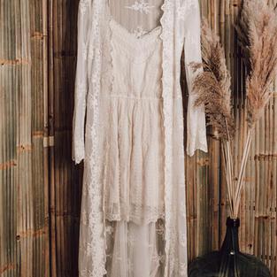 Kort jurkje met kanten kimono (16)