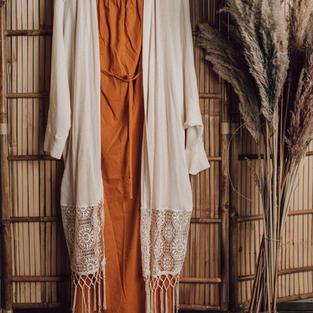 Okker jurk met vest (12)