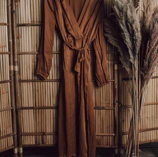 Zijde overslag jurk (8)
