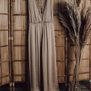 Zijde jurk met kant (2)