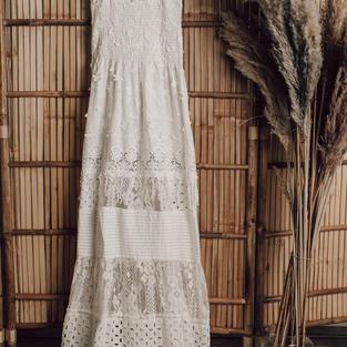 Antica sartoria kanten jurk (7)