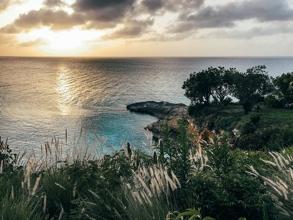 Sunset over Meads Bay in Anguilla.
