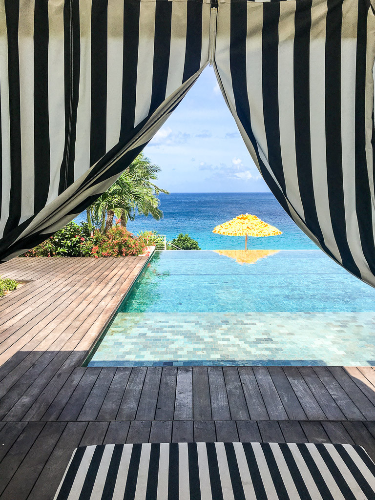 Relax in a cabana at the Malliouhana pool.