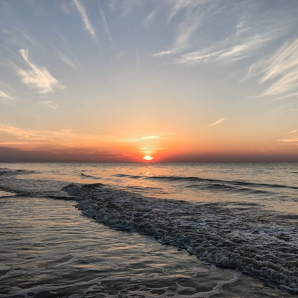 Sunrise on the beach in Palmetto Dunes, Hilton Head Island, SC