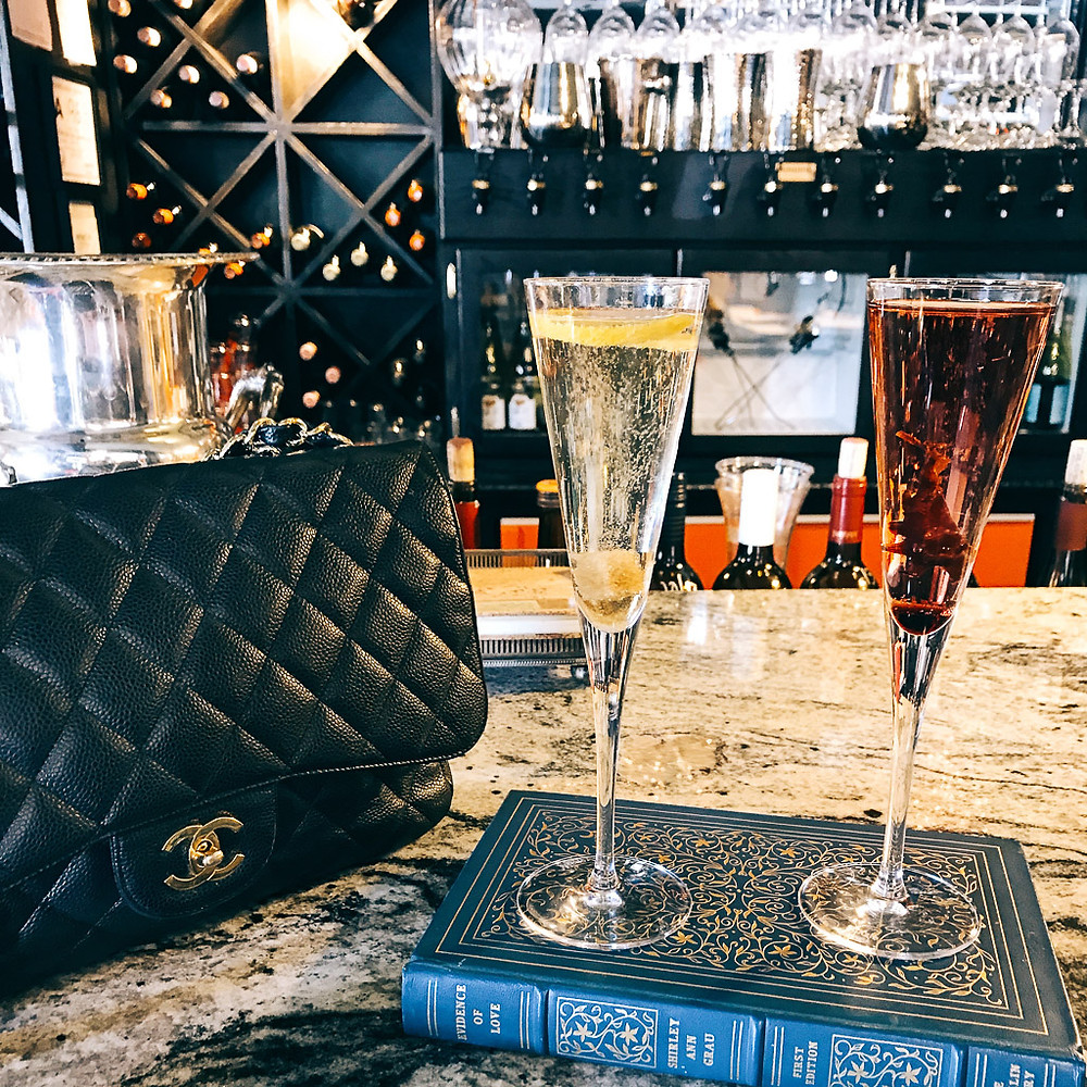 Battery Park Book Exchange and Champagne Bar, Asheville.