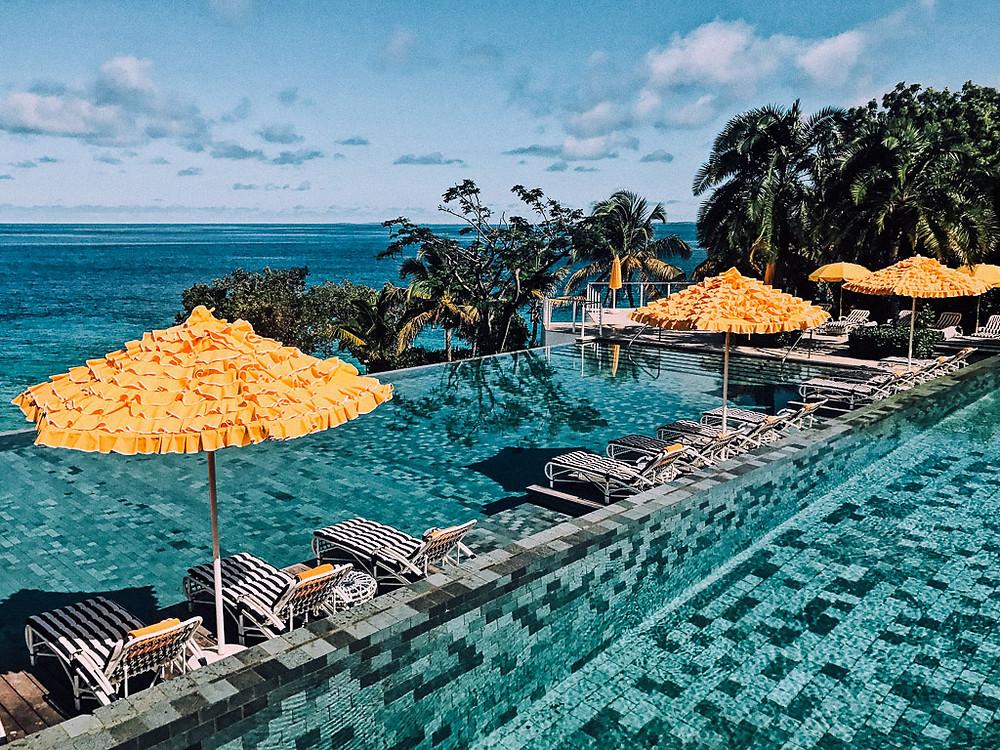 Double infinity pool at Malliouhana in Anguilla.