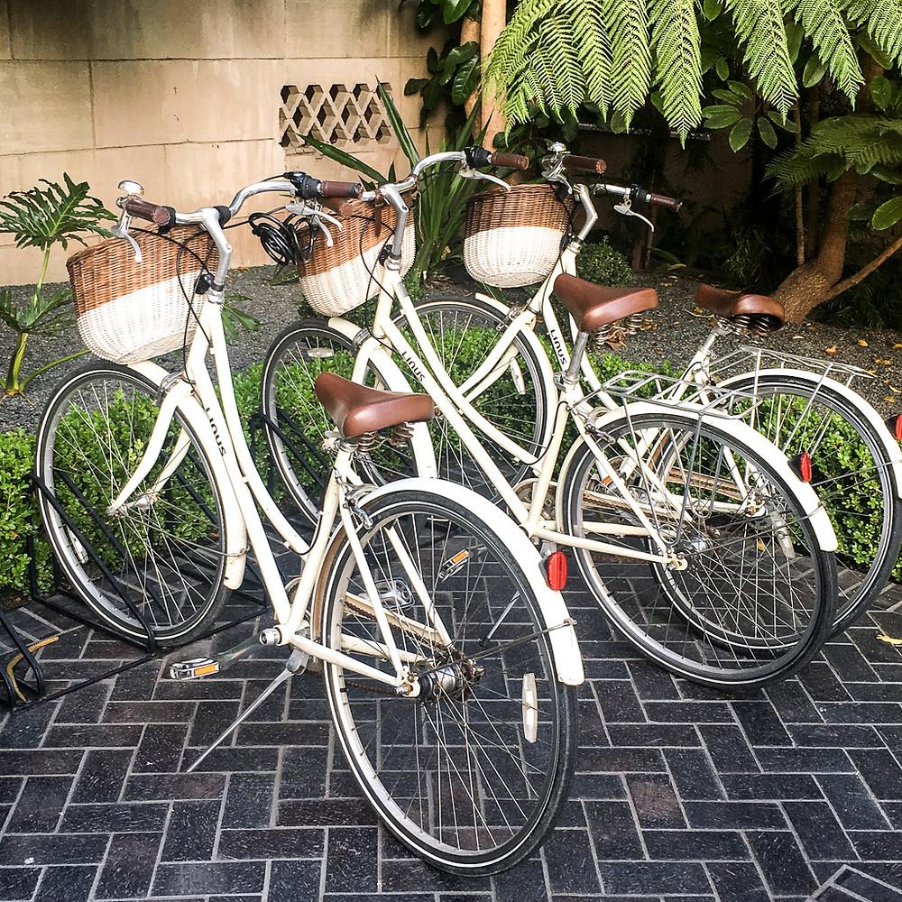 Bicycles at the Palihouse Santa Monica.