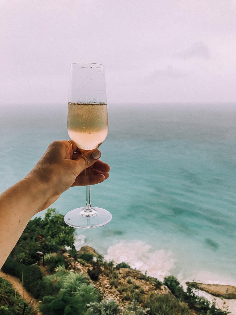 Champagne in Anguilla.