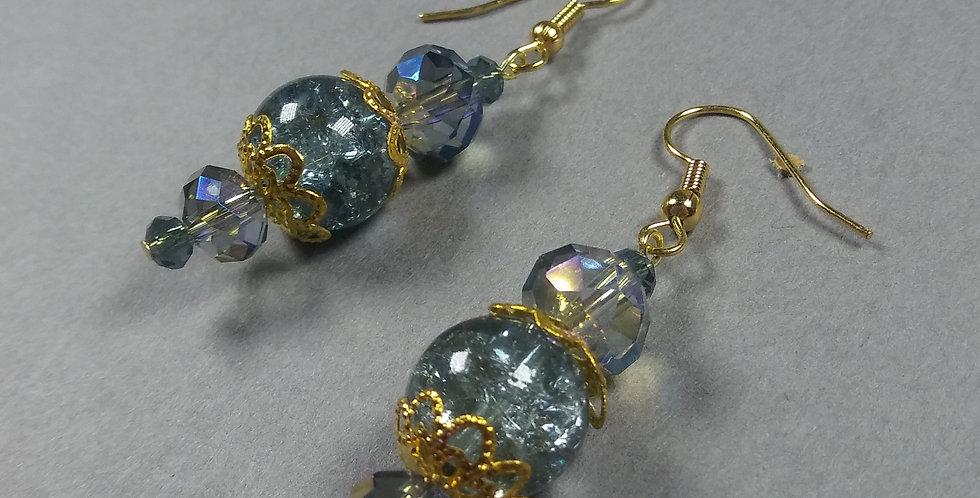Pale Blue & Periwinkle Earrings