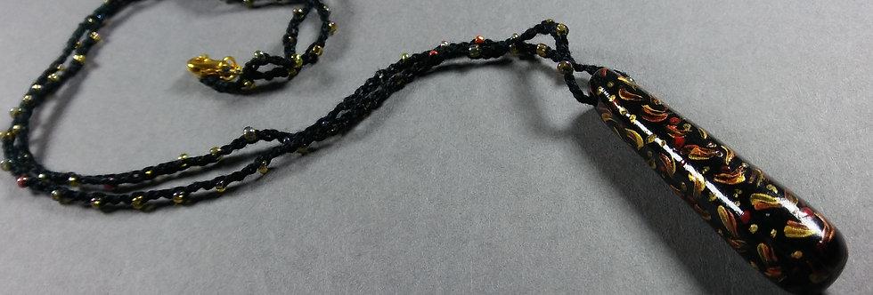 Stardrop Black Clay Crochet Necklace