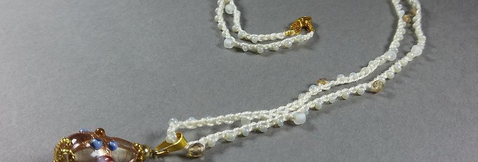 Cream & Vanilla Crochet Necklace