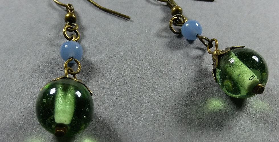 Mint & Ice Teardrop Earrings