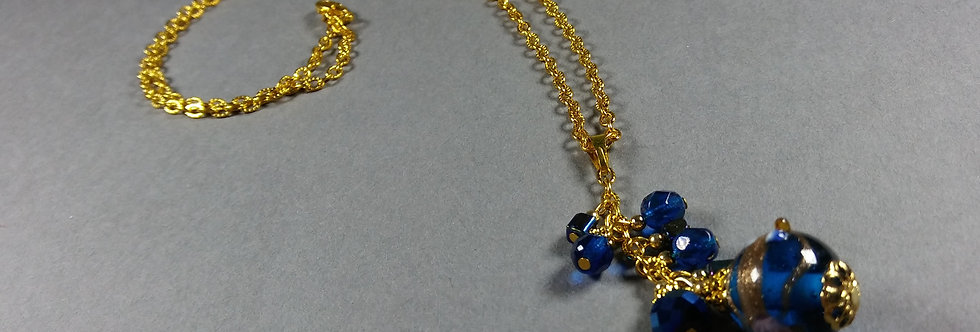 Blue Focal w/Blue Necklace
