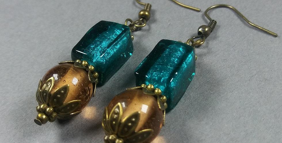 Cerulian & Antique Earrings