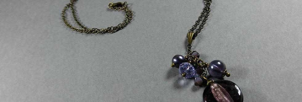 Purple Focal w/Purple Necklace