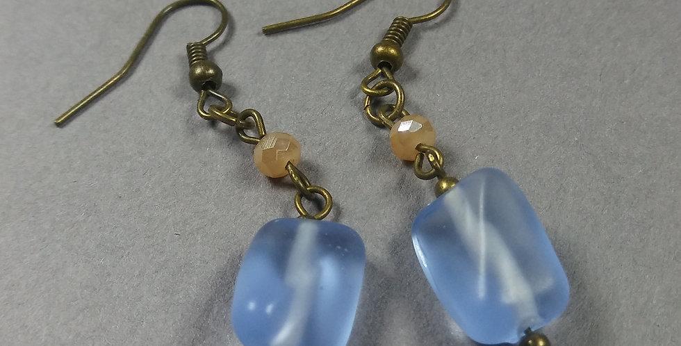 Powder Blue & Peach Earrings