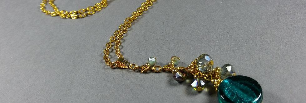 Teal Focal w/Olive Necklace