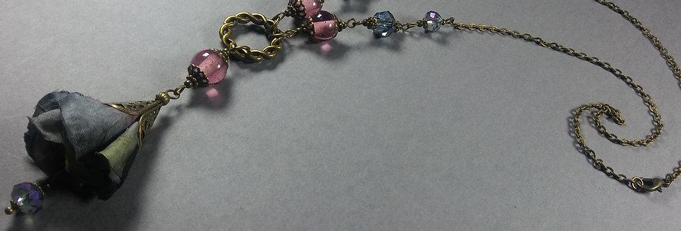 Dusky Lavender & Mauve Floral Necklace