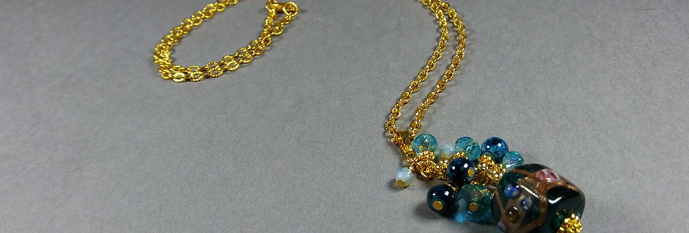 Teal Focal w/Teal Necklace
