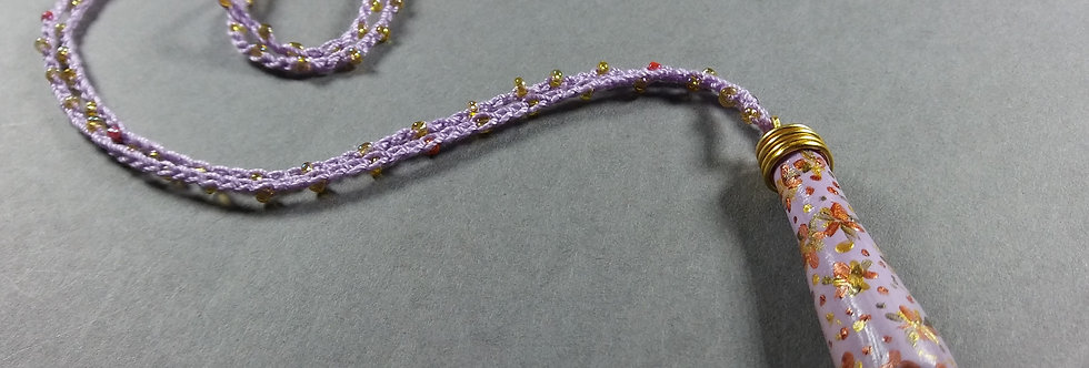Stardrop Lavender Clay Crochet Necklace