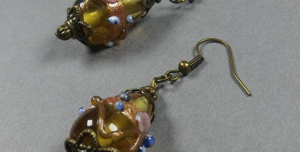 Antique Beaded Earrings