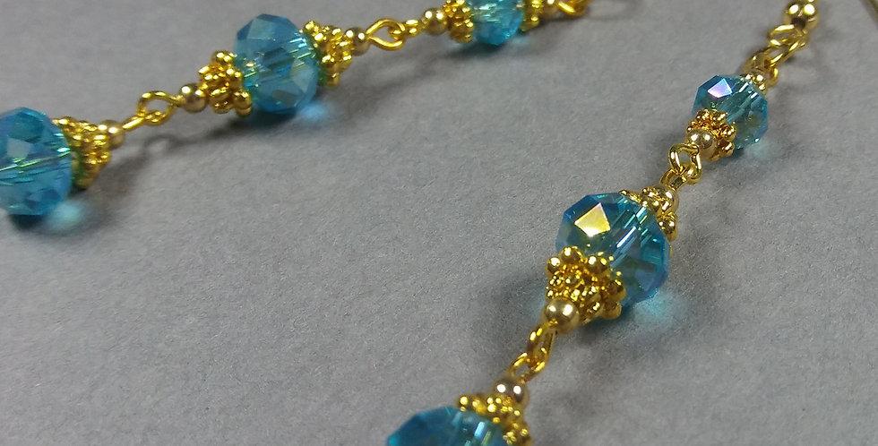 Cerulian & Gold Earrings