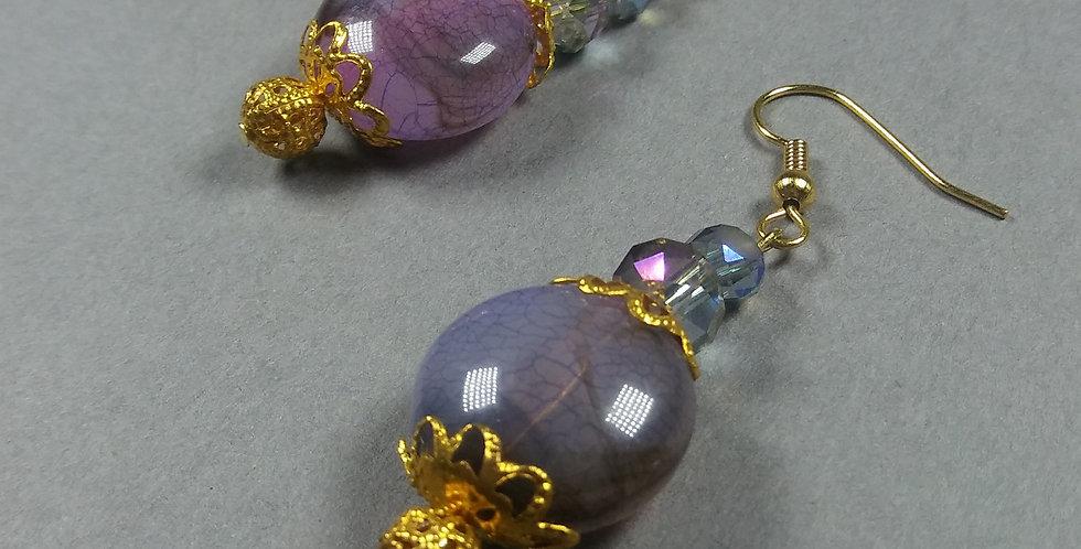 Lavender & Periwinkle Earrings