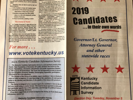 Get out and VOTE November 5, 2019!