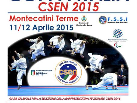 COPPA ITALIA CSEN - MONTECATINI (PT) - 11 APRILE 2015