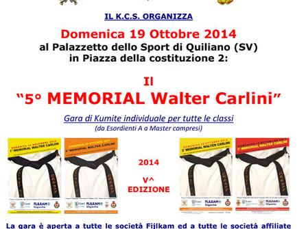 5° MEMORIAL WALTER CARLINI - QUILIANO (SV) - 19 OTTOBRE 2014
