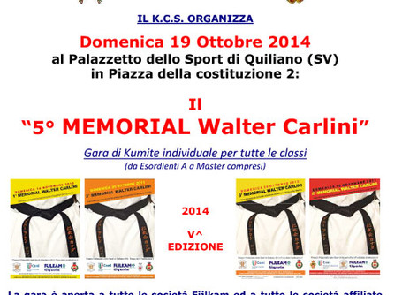 5° MEMORIAL WALTER CARLINI - QUILIANO (SV) - 19 OTTOBRE 2014