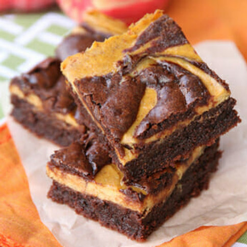 Pumpkin Cheesecake Brownie (GF)