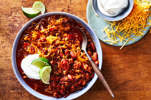 Tailgate Chili Party   - - -        Serves 4-6