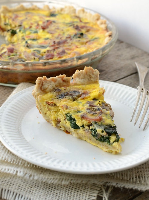 SC Quiche Lorraine with Spinach & Caramelized Onions