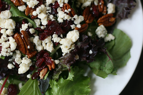 Holiday Salad with Dried Cranberries, Praline Pecans & Gorgonzola
