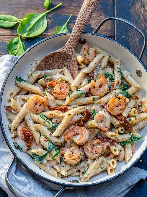 Shrimp Penne Pasta Primavera