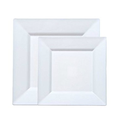 White Square China Plate Rental