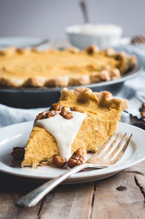 Spiced Pumpkin Pie - Serves 6 Guests