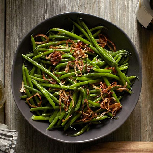 Haricots Verts with Roasted Shallot & Lemon Compound Butter