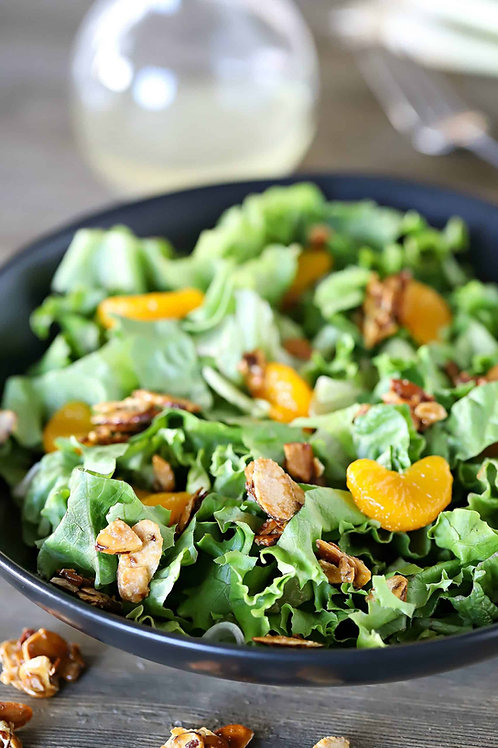 Southern Spinach Salad with Praline Pecans