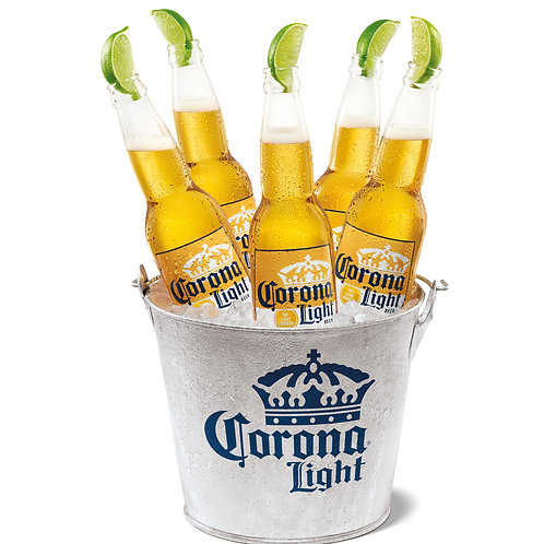 Corona Light 6 Pack with a Lime