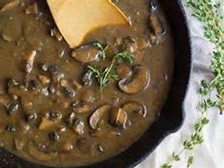 Mushroom-Peppercorn Pan Gravy - 1 Pint (Serves 2-4 Guests)