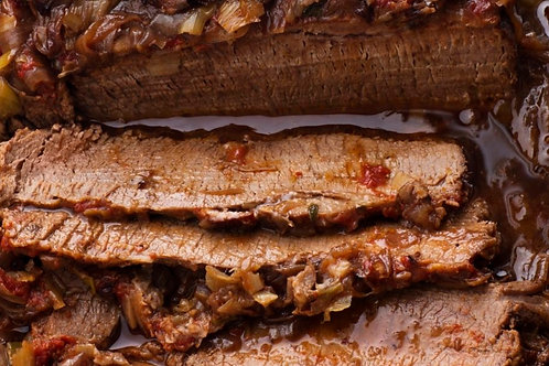 Wine Braised Beef Brisket with Carrots & Caramelized Onions
