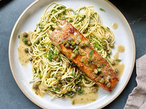 Salmon Piccata Dinner Care Package