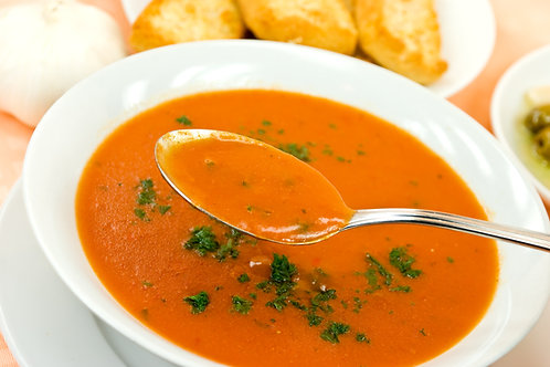 Roasted Red Pepper & Smoked Gouda Soup