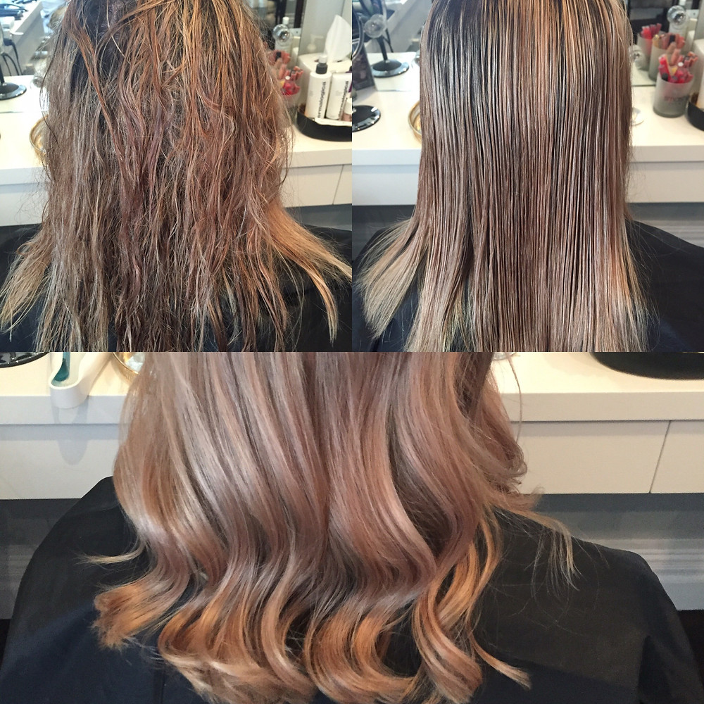 Results of treatment with inverse hair styler