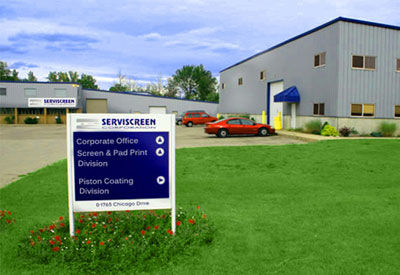 Serviscreen Offices and Departments Sign