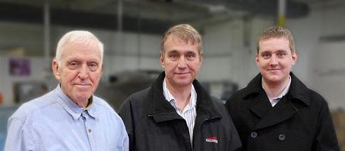 Al, Arlen, and Ariah Van Os at Serviscreen Corporation